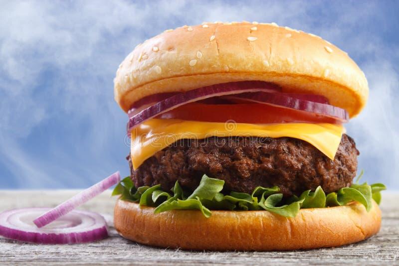 Hamburger à l'oignon photos stock