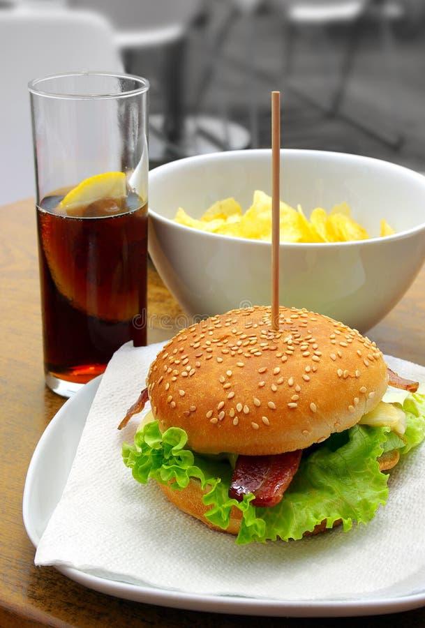 Download Hamburger stock photo. Image of cheeseburger, delicious - 13764028
