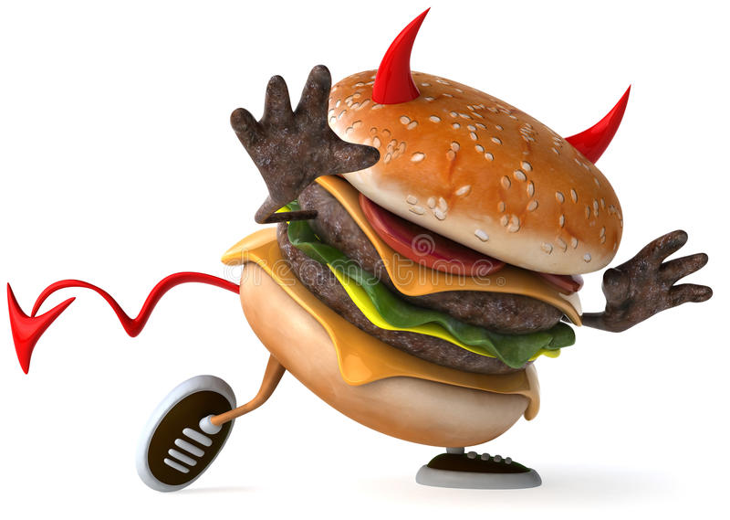 Hamburger ilustração stock