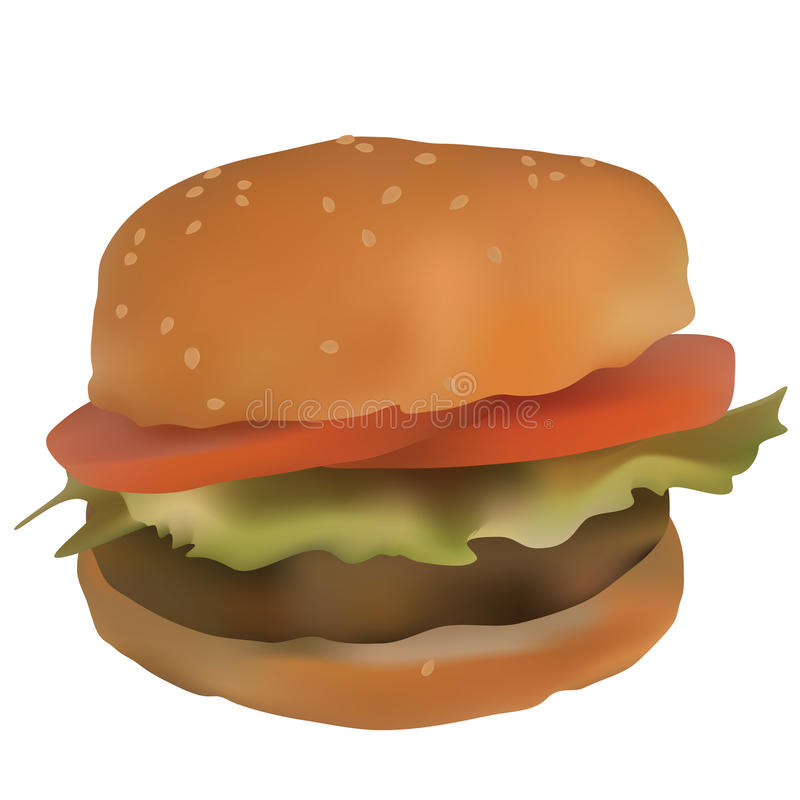 Download Hamburger stock vector. Image of macro, illustration - 17825530