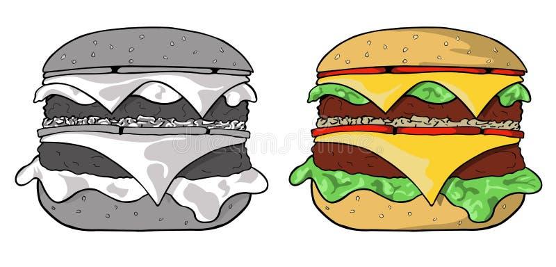 hamburger ilustracja wektor