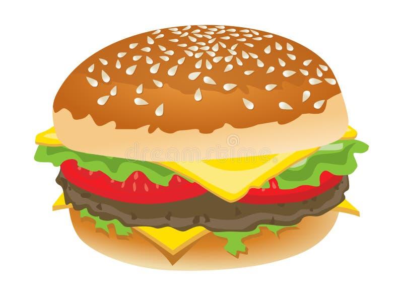 Hamburger lizenzfreie abbildung