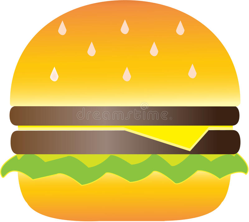 Hamburger illustrazione vettoriale