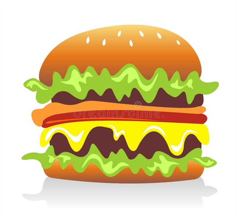 Hamburger illustration libre de droits