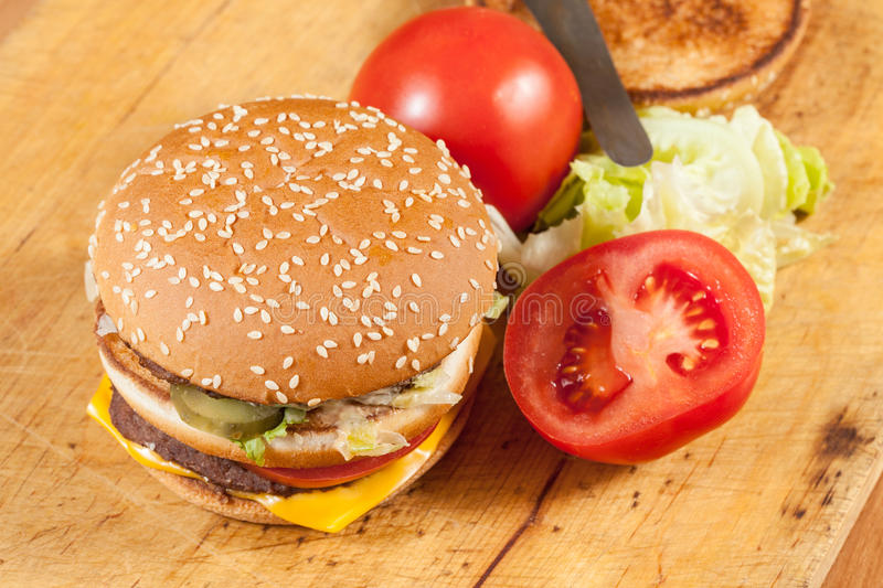 Download Hamburger stock image. Image of beef, seed, meal, background - 38374995