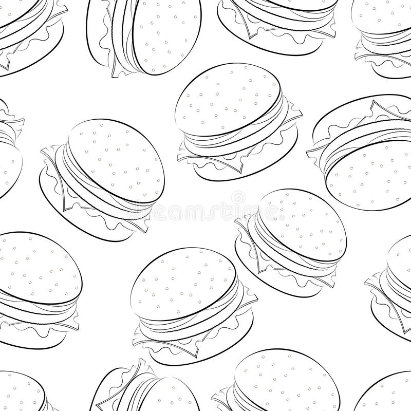 Hamburger stock illustratie