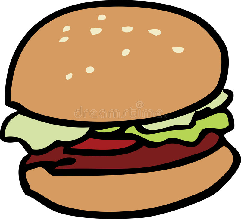 Hamburger illustrazione di stock