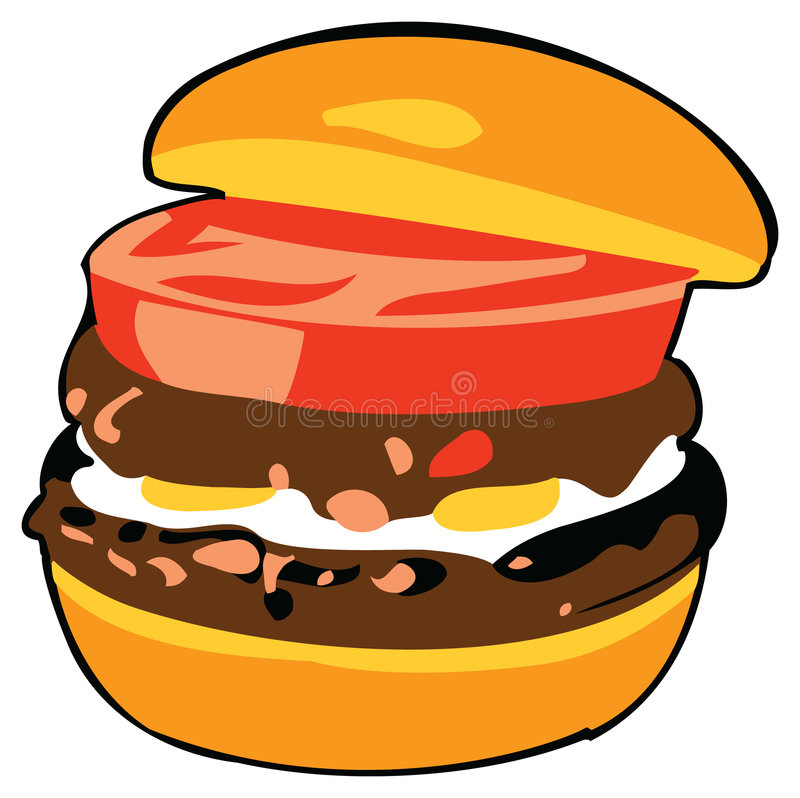 Hamburger royalty free illustration
