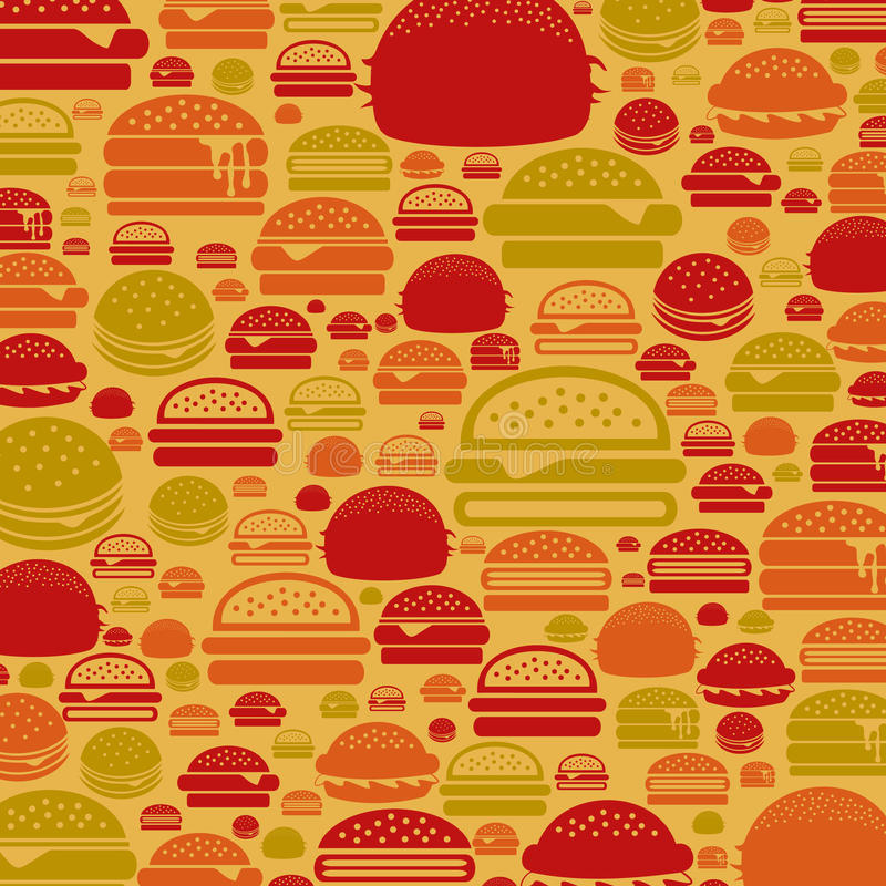 Hamburger a background stock illustration
