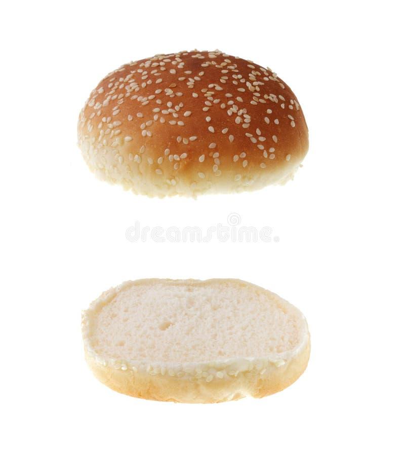 Free Hamburger Bread Isolated Royalty Free Stock Photography - 9790737