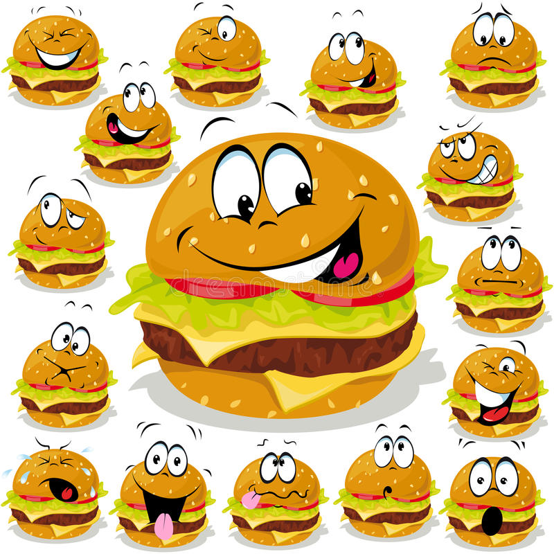 Hamburger cartoon royalty free illustration
