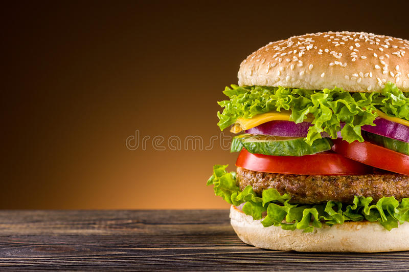 Hamburger casalingo immagine stock