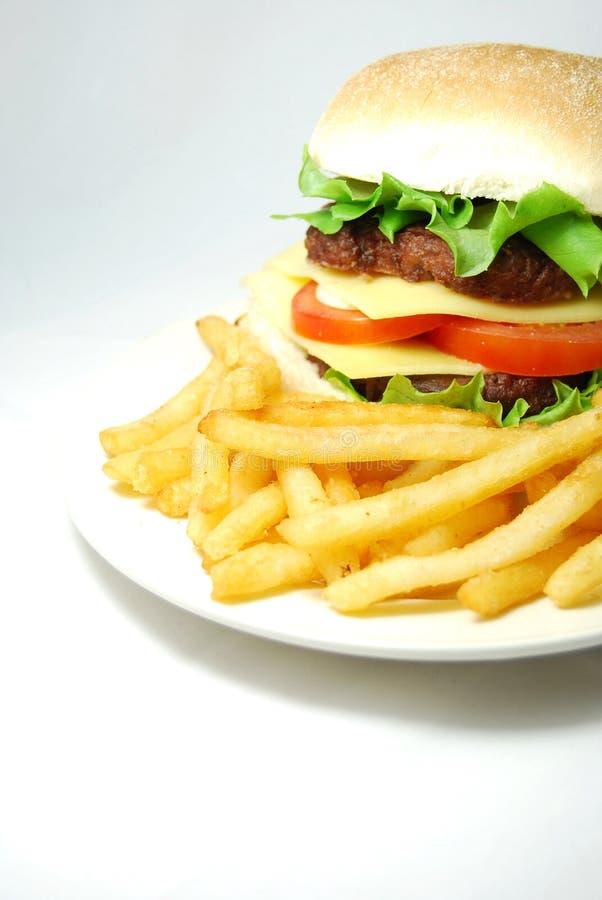 Free Hamburger (cheeseburger) Royalty Free Stock Image - 11363986
