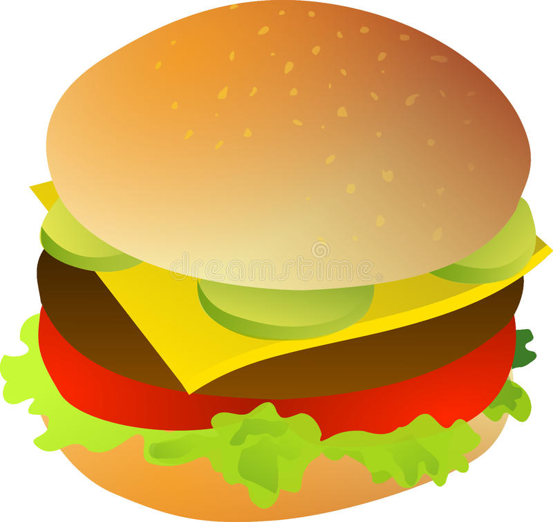 Hamburger, Cheeseburger, jedzenie, fast food obraz royalty free