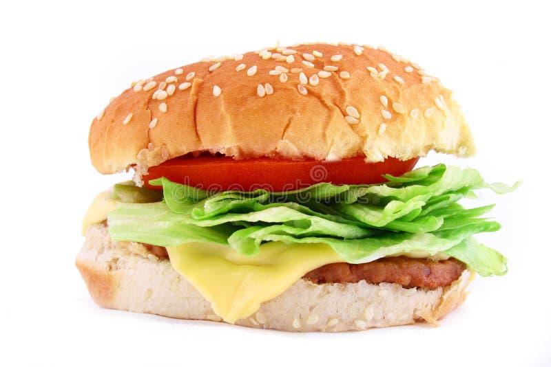 Hamburger classico del manzo fotografia stock