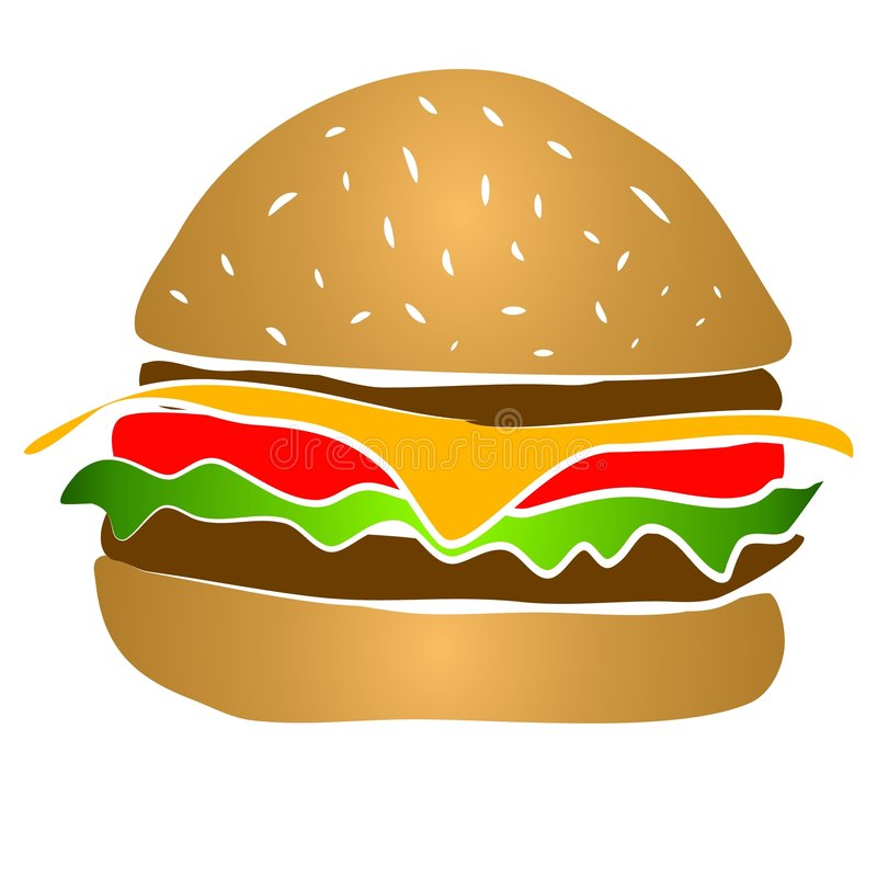 Hamburger Clipart del cheeseburger royalty illustrazione gratis