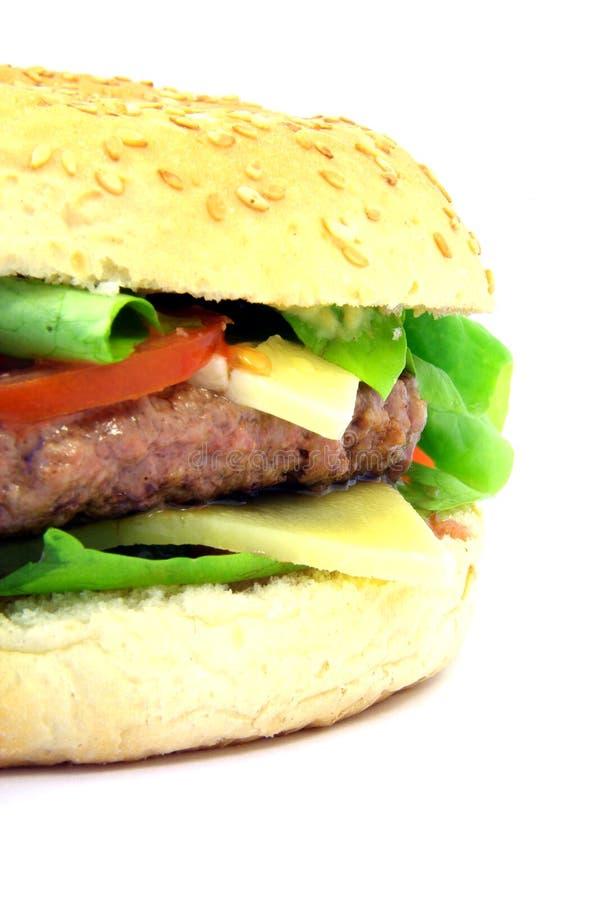 Hamburger close-up 2 stock images