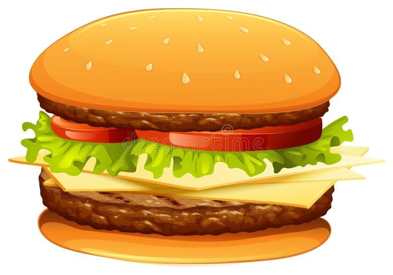 Hamburger com carne e queijo ilustração royalty free