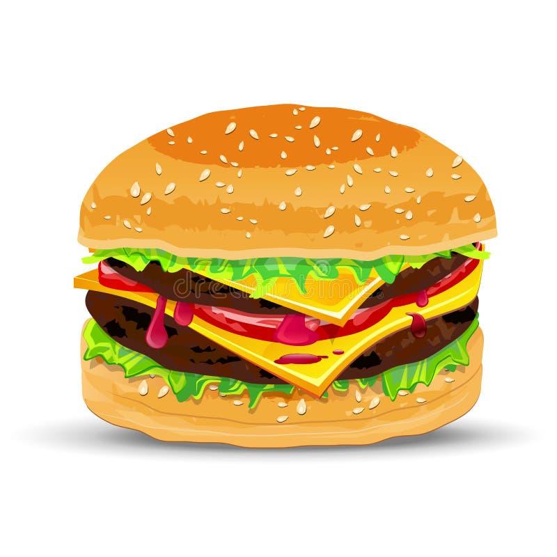 Hamburger com queijo ilustração do vetor
