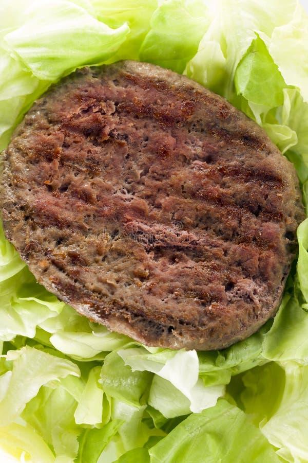 Hamburger con insalata bio- fotografia stock libera da diritti