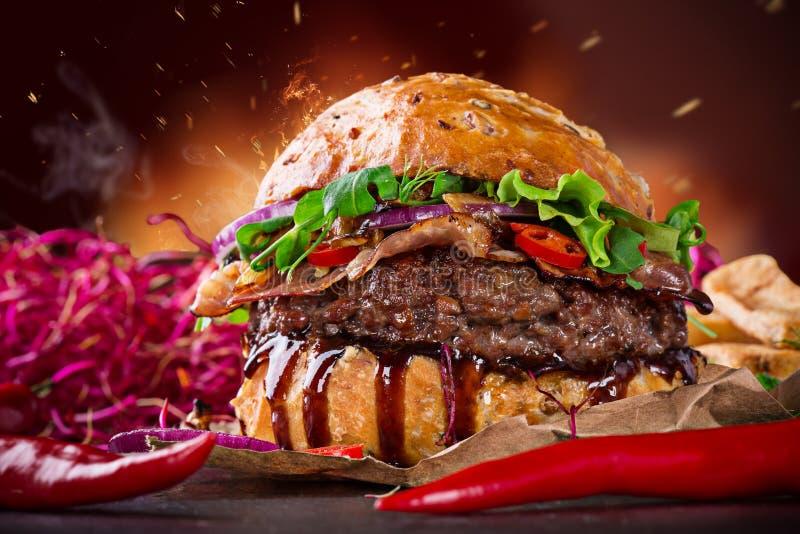 Hamburger délicieux image libre de droits