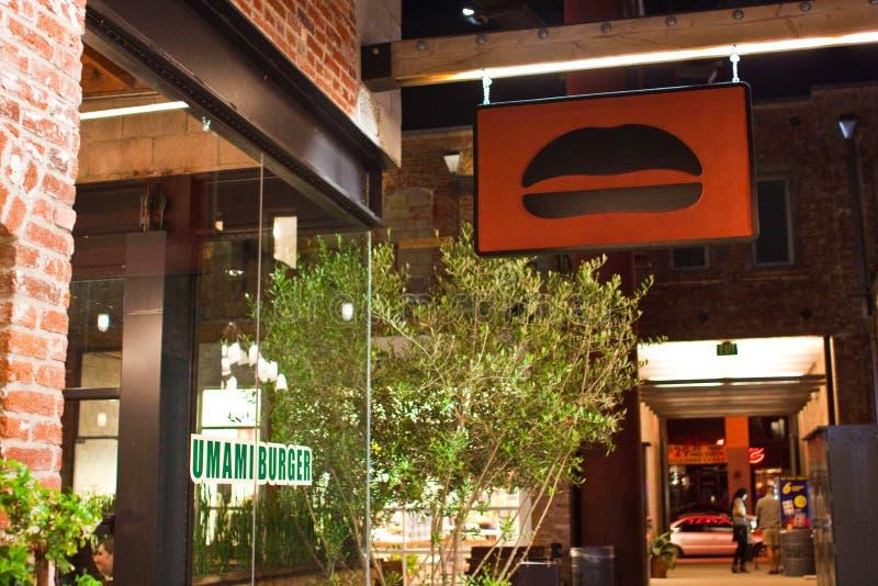 Hamburger d'Umami, Los Angeles photographie stock