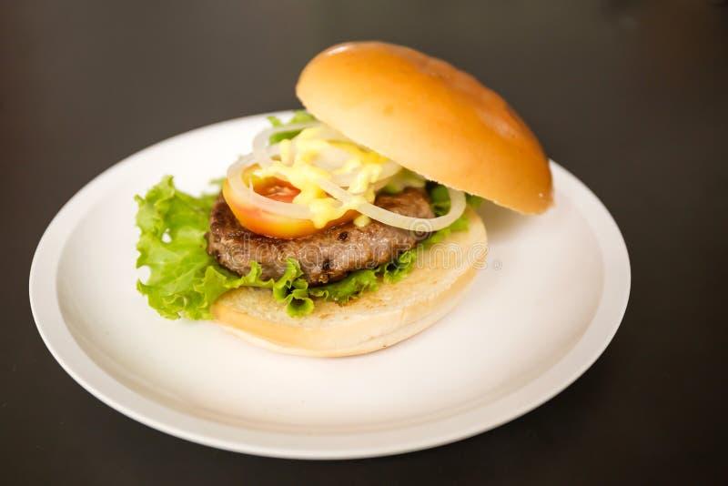 Hamburger da carne de porco imagens de stock