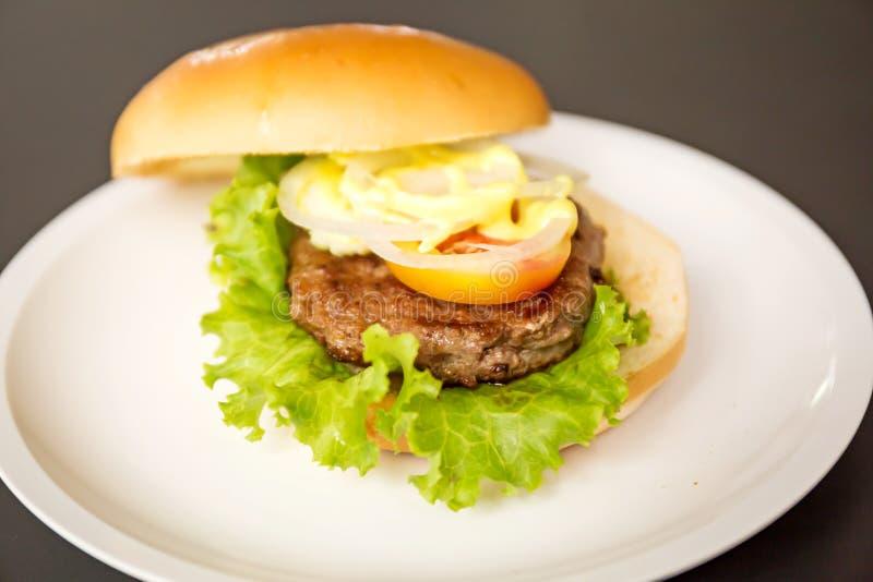 Hamburger da carne de porco foto de stock