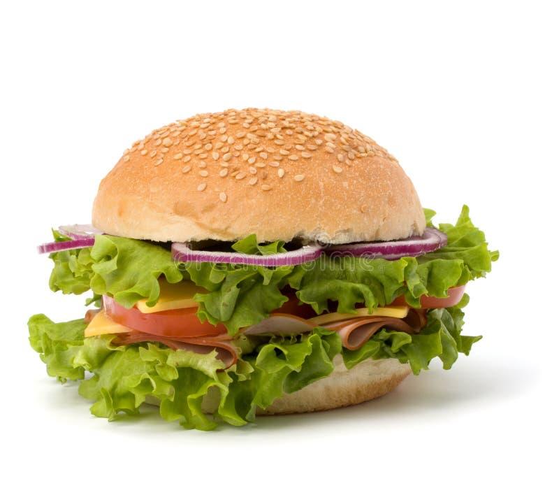 Hamburger da comida lixo fotografia de stock royalty free