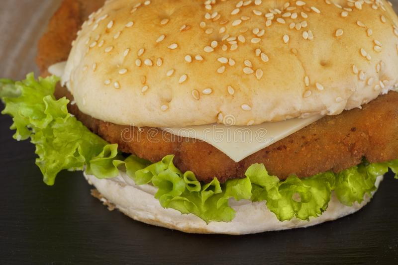 Hamburger da galinha imagens de stock royalty free