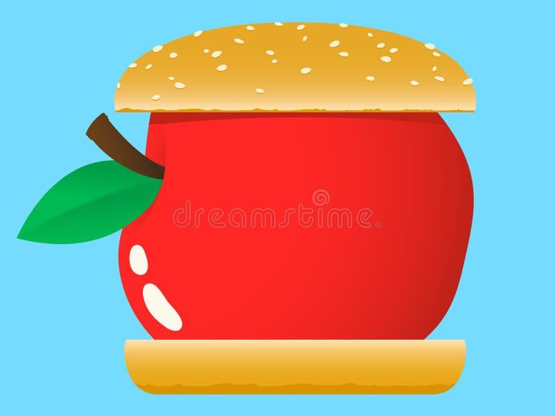 Download Hamburger De Apple - Fast Food Ilustração do Vetor - Ilustração de americano, alimento: 16860108