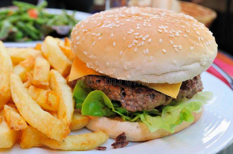 Hamburger de fromage photo stock