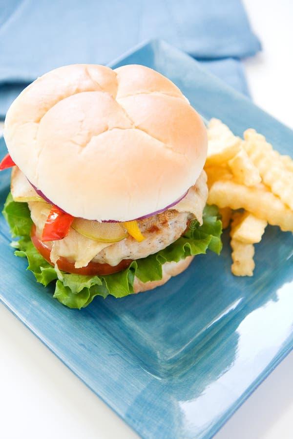 Hamburger de la Turquie photographie stock libre de droits