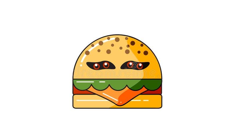 Hamburger de monstre de caractères de conception illustration de vecteur