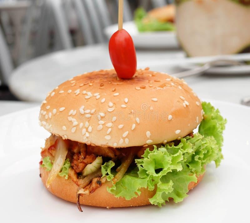 Hamburger de poulet photographie stock