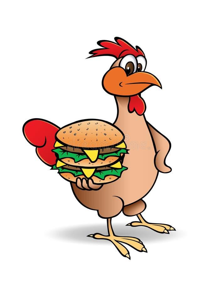 Hamburger de poulet illustration de vecteur