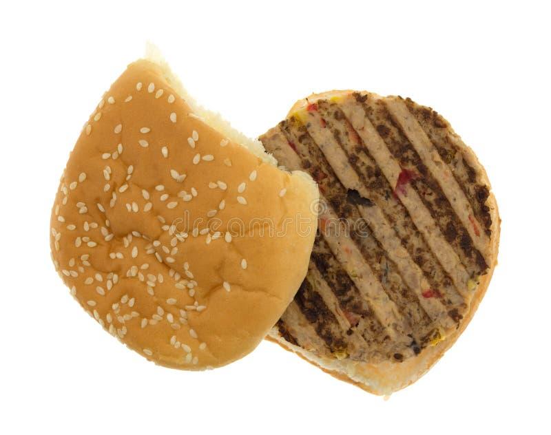 Hamburger de Veggie d'isolement sur le fond blanc photo stock
