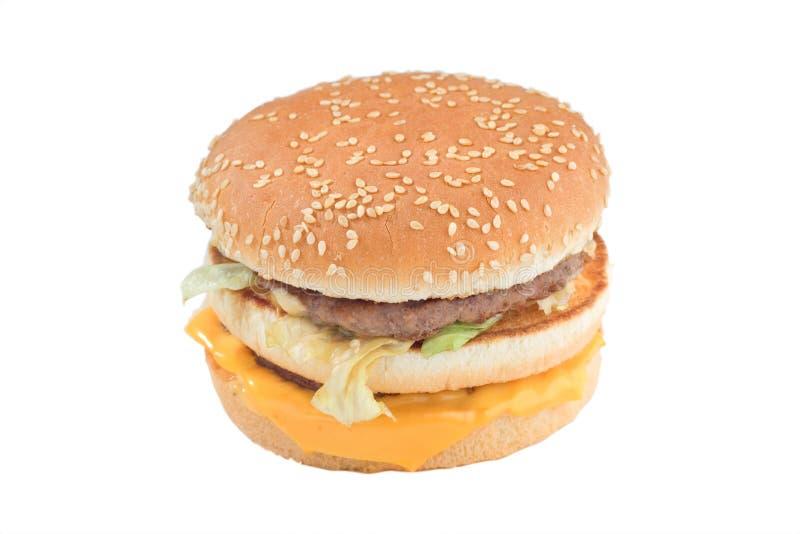 Hamburger del formaggio fotografia stock libera da diritti