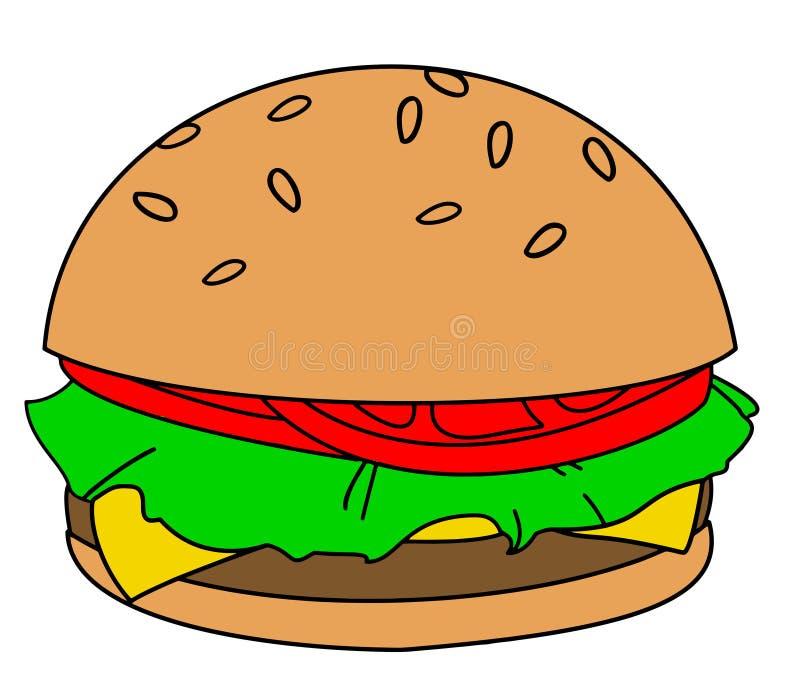 Hamburger del fumetto illustrazione vettoriale