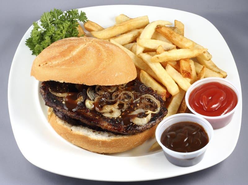 Hamburger del manzo combinato immagine stock libera da diritti