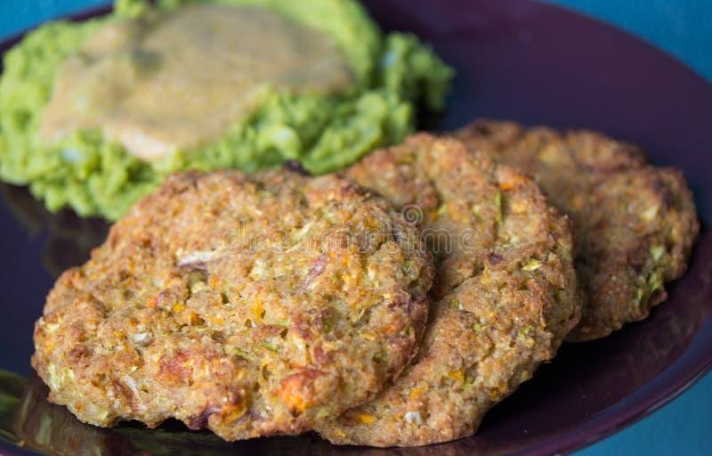 Hamburger del vegano fotografie stock libere da diritti