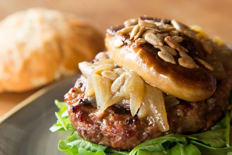 Hamburger di Foie immagine stock