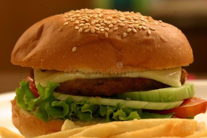 Hamburger di Veg immagini stock