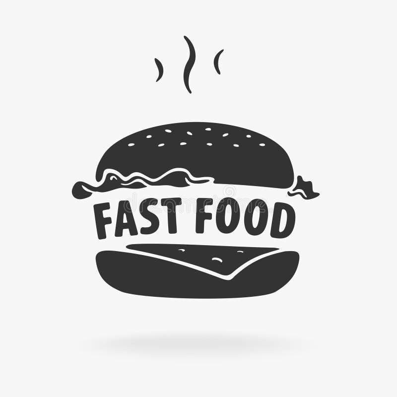 Hamburger do fast food do símbolo ilustração do vetor