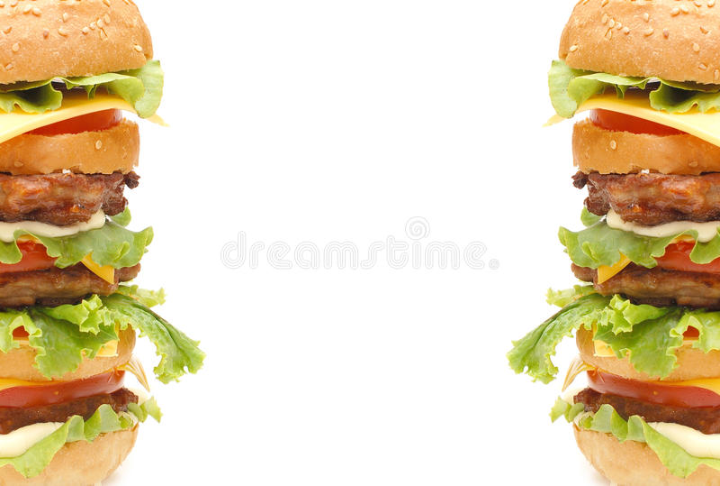 Hamburger dobro imagens de stock