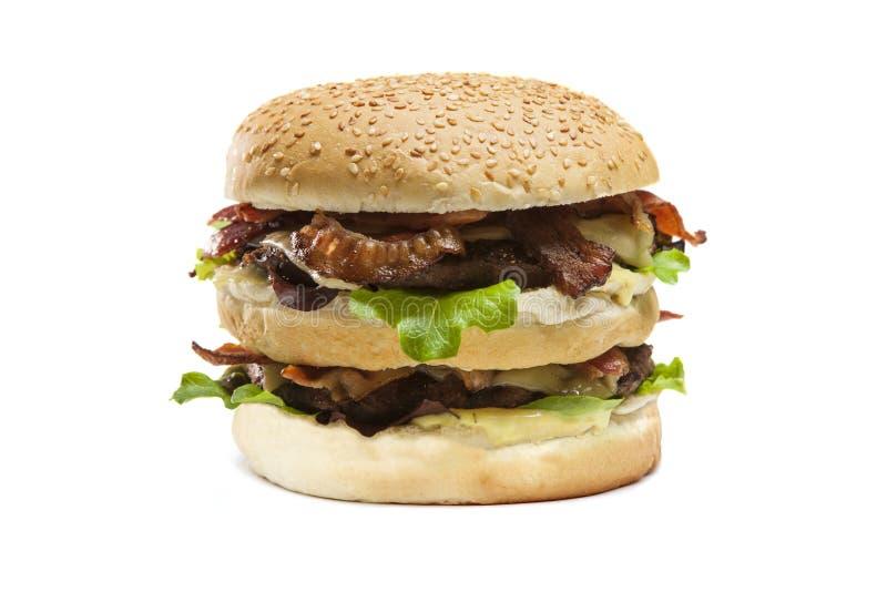 Hamburger dobro isolado fotografia de stock royalty free