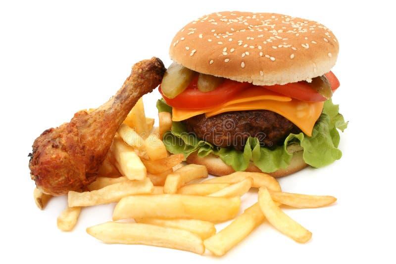Hamburger e pollo immagini stock libere da diritti