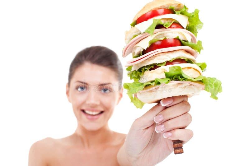 Hamburger enorme eccellente immagine stock libera da diritti