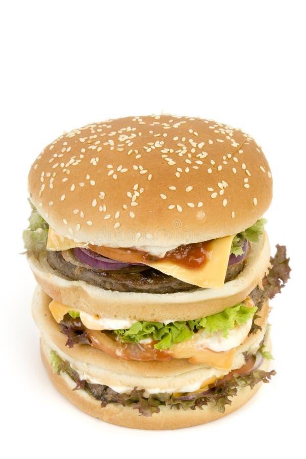 Hamburger ENORME isolato fotografia stock
