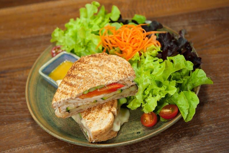 Hamburger figé d'aliments de préparation rapide grand image stock